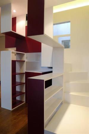 escalier avec rangements